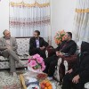 دیدار بخشدار، رئیس شورای شهر و دهیار کتهسر با خانوادهی شهید رحمت ملائی